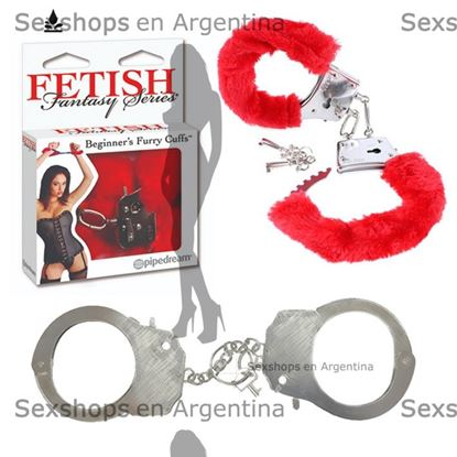Esposas con peluche pipedream color rojo